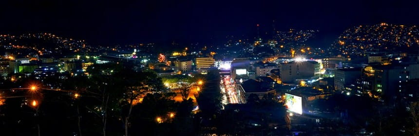 Baguio City in the night